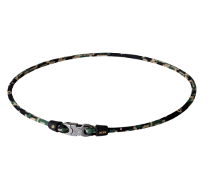 PHITEN X30 DIGITAL CAMO TITANIUM NECKLACE WOODLAND
