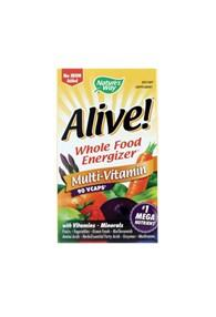 ALIVE! WHOLE FOOD MULTIVITAMIN WITHOUT IRON 90 Veg Caps