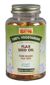 ORGANIC FLAXSEED OIL VEGETARIAN 90 SOFTGEL