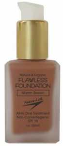 NUTRA-LIFT FLAWLESS FOUNDATION SPF 18 1 OZ.