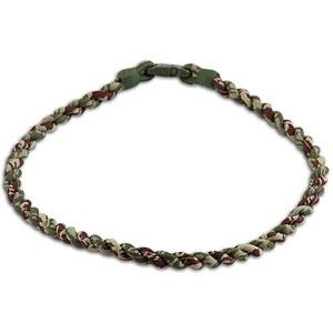 PHITEN TITANIUM TORNADO NECKLACE BROWN/GREEN CAMOUFLAGE