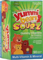 YUMMI BEAR MULTIVITAMIN MINERAL SOURZ 90 Chews
