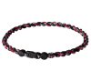 PHITEN TITANIUM TORNADO NECKLACE BLACK/MAROON
