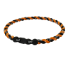 PHITEN TITANIUM TORNADO NECKLACE BLACK/ORANGE
